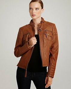 Very Impressive brown leather jacket
