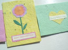 Recycled & Plantable Handmade Mothers Day by Paperdandelions1, $3.50