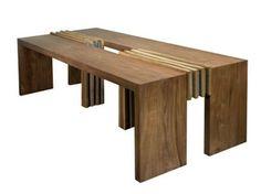 Table à manger rectangulaire en bois IJO | Table - WARISAN