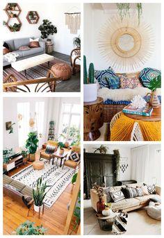 Le style ethnique chic, une variante du style bohème - Blog Rhinov Modern Interior Design, Interior Design Inspiration, Deco Boheme Chic, Bohemian Apartment, Style Ethnique, Style Deco, Attic Rooms, Bohemian Decor, Bohemian Style