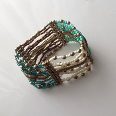 BRAND  Listing - Turquoise and gold bracelet ☑️ Bundles are encouraged  No trades. I will NOT answer to this comment. No asking lowest Offer No paypal, etc No holds ❗️All sales FINAL, no exceptions  ‼️Please remember the fees PM takes out. Be courteous and stay classy.  *Ships next day* I will not respond to offers in comments. Thanks for visiting my closet! Jewelry Bracelets