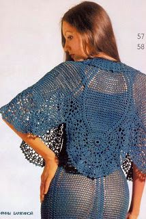 VALYS HANDMADE: DRESS AND PELERINE CROCHET -  beautifull !