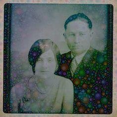 Mémère and Pepère by Michelle LaRiviere #ipadart #percolatorapp #digitalart #photobasedart #portraits #grandparents #portraits