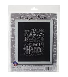 Design Works Just Be Happy Counted Cross Stitch Kit
