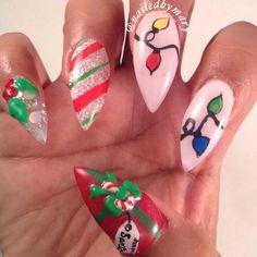 Christmas stilettos   Nails   Pinterest   Stilettos, Nail stuff and ...
