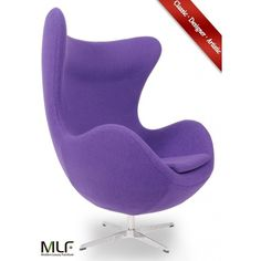MLF Arne Jacobsen Egg Chair/Ottoman (3,050 MYR) ❤ liked on Polyvore featuring home, furniture and ottomans