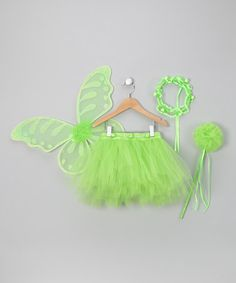 Take a look at this Lime Madden Tutu Set by Just Pretend by Wyla on #zulily today!
