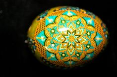 Etched Brown Egg Pysanky, Ukrainian Egg, Russian Egg, Easter Egg, Batik Folk Art