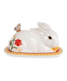 Product: Fitz and Floyd® Flower Market Covered Butter Dish Cheese Dishes, Cheese Trays, Butter Cheese, Butter Dish, Rabbit Silhouette, Kitchen Dishes, Kitchen Stuff, Flower Market, Rabbits