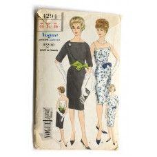 Vogue 4294 Cocktail Dress Pattern Vintage 1960s Bust 34 Special Design