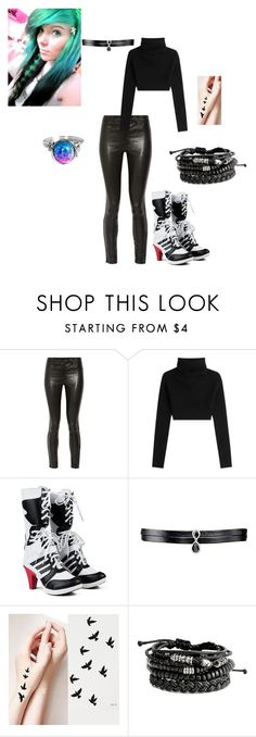 """""""hey... ~ underswap Arial"""" by themastersucks on Polyvore featuring J Brand, Valentino and Fallon"""