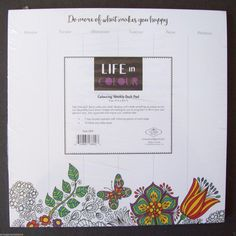Life in Colour Color Colouring Weekly Desk Pad Do more of what makes you happy… What Makes You Happy, Are You Happy, Black And White Sheets, Organization Lists, Day List, Desk Pad, General Store, Hard To Find, Color Of Life