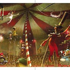 Circus illustration by Fernando Juarez