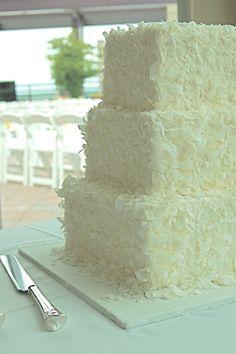 Shaved Coconut Wedding Cake