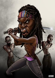 Michonne - The Walking Dead by danieltorazza on deviantART