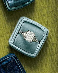 Dazzling Engagement Rings  ~~  Emerald-Cut Diamond Engagement Ring  McTeigue & McClelland, mc2jewels.com