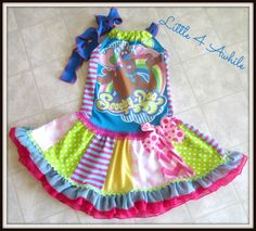 Scooby Doo Pillowcase Style Pieced Twirl Dress by Little 4 Awhile  www.little4awhile.etsy.com  www.facebook.com/little4awhile