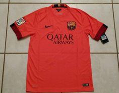 NWT NIKE FC Barcelona 2014 Away Soccer Jersey Men's Medium  | eBay