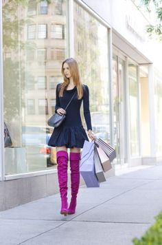 In love with the boots but she looks like Daphne of scooby doo xoxoxoxo
