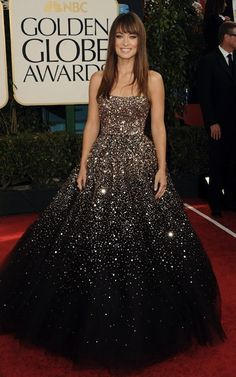 Olivia Wilde @ golden globes. I would have worn an updo, but still a stunning gown :) I can dream, right...