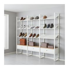 IKEA ELVARLI 3 sections White/bamboo 245x40x216 cm You can always adapt or complete this open storage solution as needed. Maybe the combination we've...