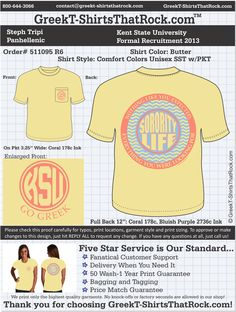 "Upload Your Design and Use the *PROMO CODE: GTTR14* to get discounted Comfort Colors Pricing on your next order.  #gttr #greektshirts #greekt-shirts #greektshirtsthatrock ""Pin it to Win It"" For Your Chapter in Fall 2014."