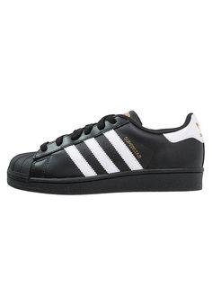 new concept a2d0d fee5c Superstar Noir Et Blanche, Adidas Superstar Noires, Basket Basse, Chaussure,  Nike Sb