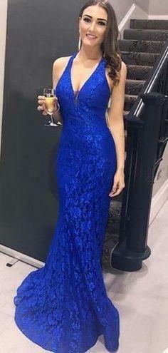 Mermaid V-Neck Lace Long Prom Dresses Formal Evening Dresses 601304 Blue Lace Prom Dress, Royal Blue Prom Dresses, Prom Dresses For Teens, Homecoming Dresses, Bridesmaid Dresses, Long Dresses, Royal Blue Long Dress, Prom Outfits, Grad Dresses