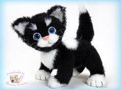 Katze häkeln ... mit Mohair Wolle für schönes Fell