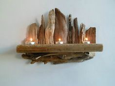 drift wood art   Driftwood-candle-shelf-wall-sconce-wall-art-driftwood-sculpture-length ...