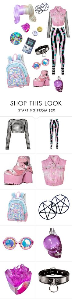 """Trash"" by dead-head-dolly ❤ liked on Polyvore featuring Motel, House of CB, Kill Star, POLICE and Dara Ettinger"