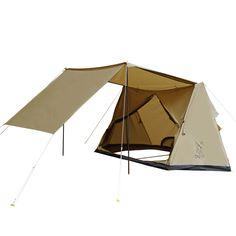 パップフーテント 広いタープスペースと燃えにくいポリコットン生地。懐かしいけど新しい、パップ風テント。 DOPPELGANGER OUTDOOR (ドッペルギャンガーアウトドア) 略してDOD。 #キャンプ #アウトドア #テント #タープ #チェア #テーブル #ランタン #寝袋 #グランピング #BBQ #DOD #ドッペルギャンガー #DIY #パップテント