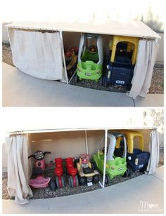 Covered Kiddie Car Parking Garage   DIY Backyard Projects To Try This Spring   DIY Projects