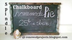 Reduce, Reuse, Renewed: Spindle Chalkboard