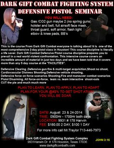 Defensive Pistol Seminar Look under Events  Saturday, August 23 at 9:00 am
