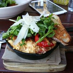 Beautiful open omelette with chorizo at Sayers Sister, Northbridge   Morsels