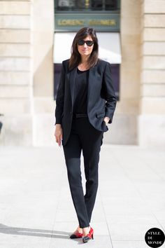 Emmanuelle Alt ... flawless, can't get enough of this look