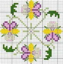 .viooltjes biscornu