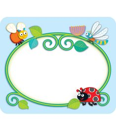 """Buggy"" for Bugs Name Tags - Your students will go ""buggy"" for these adorable…"