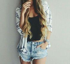 Image via We Heart It https://weheartit.com/entry/147757409 #body #fashion #girl #hair #jeans #love #summer #hotpan