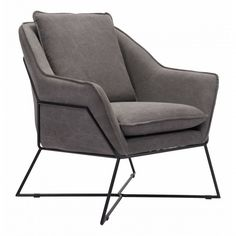 Lincoln Lounge Chair, Gray