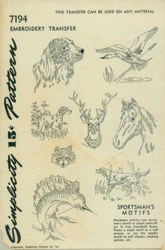 Sportsman Embroidery Patterns vis Doe-C-Doe
