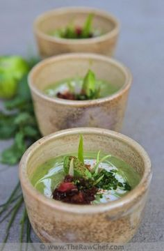 Avocado Lime Soup // The Raw Chef vegan, a raw foods soup. Vegan Soups, Raw Vegan Recipes, Healthy Recipes, Vegan Raw, Whole Food Recipes, Soup Recipes, Cooking Recipes, Drink Recipes, Cooking Tips