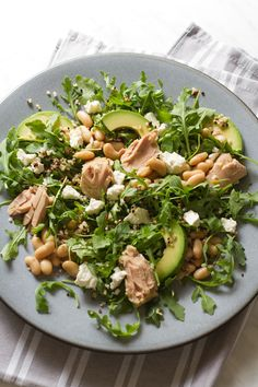 tuna, white bean, and arugula #salad