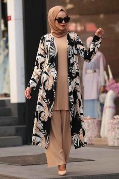 Modern Hijab Fashion, Abaya Fashion, Muslim Fashion, Kimono Fashion, Stylish Dresses For Girls, Stylish Work Outfits, Stylish Dress Designs, Girls Fashion Clothes, Fashion Outfits