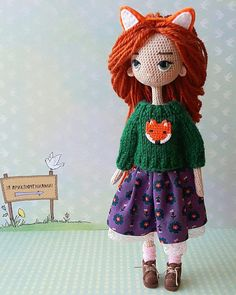 Fotos de Elena Zonova Crochet Doll Pattern, Crochet Art, Easy Crochet Patterns, Amigurumi Patterns, Amigurumi Doll, Crochet Dolls, Yarn Dolls, Dress Up Dolls, Waldorf Dolls