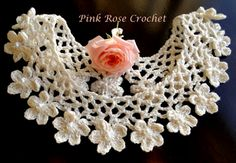 \ PINK ROSE CROCHET /: Gola Anne