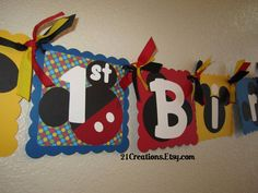 Mickey Mouse Birthday Banner by 21Creations on Etsy, $28.00