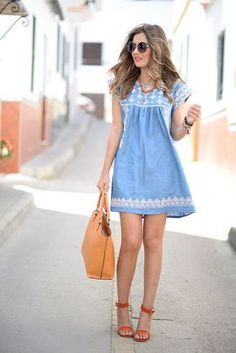 modelos outfits vestidos jeans 6