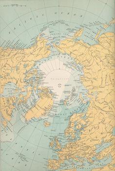 Map of Arctic 1898